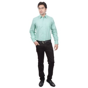 Light Green Mens Formal Shirt 00